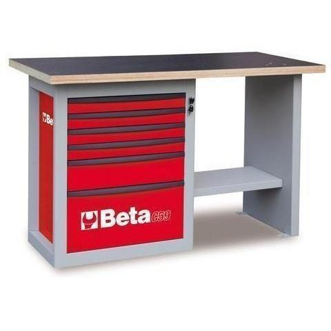 Beta Tools - Endurance™ - 6-Drawer, Workbench- C59C-Workbench-Beta Tools-Red-Torque Toolboxes