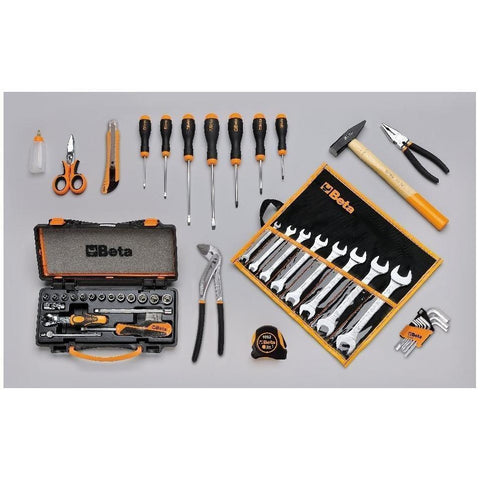 Beta Tools - Fabric Tool Trolley C8 + 45pc. Tool Set-Tool Trolley-Beta Tools-Torque Toolboxes