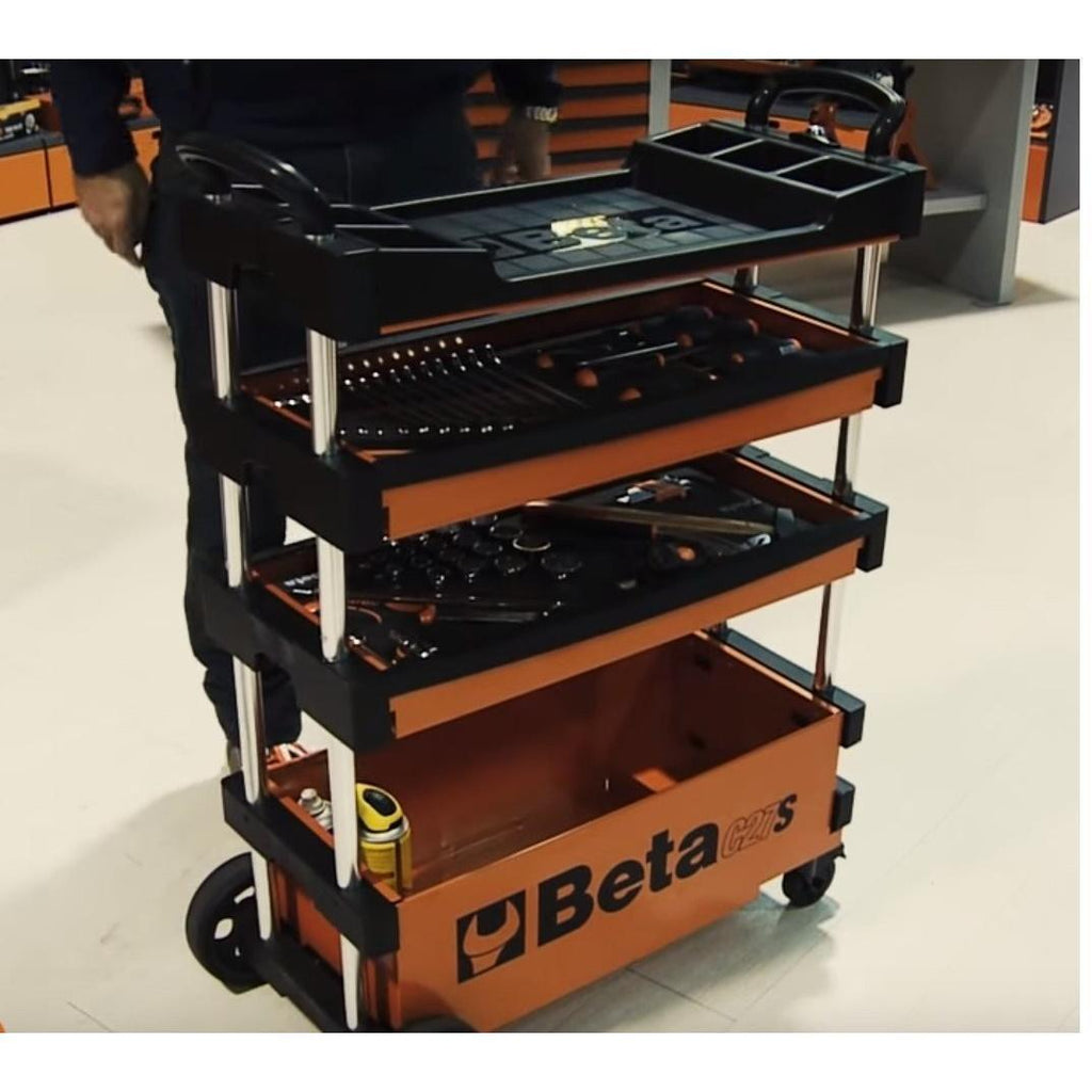 tools not included Beta Tools Beta C27S Folding Tool Trolley Grey Collapseabl