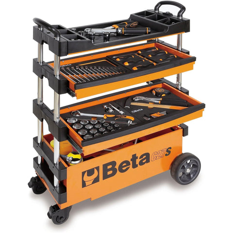 Beta Tools - Folding Tool Trolley - C27S-Tool Trolley-Beta Tools-Orange-Torque Toolboxes