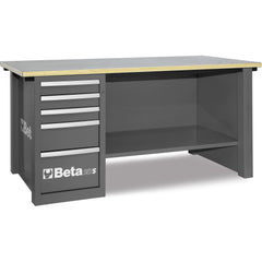 Beta Tools - MasterCargo™ - 5-Drawer, Workbench - C57S/D-Workbench-Beta Tools-Grey-Torque Toolboxes