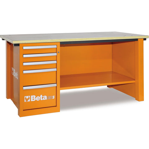 Beta Tools - MasterCargo™ - 5-Drawer, Workbench - C57S/D-Workbench-Beta Tools-Orange-Torque Toolboxes