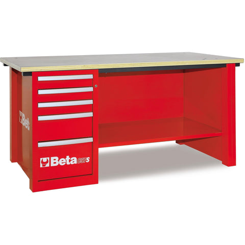 Beta Tools - MasterCargo™ - 5-Drawer, Workbench - C57S/D-Workbench-Beta Tools-Red-Torque Toolboxes