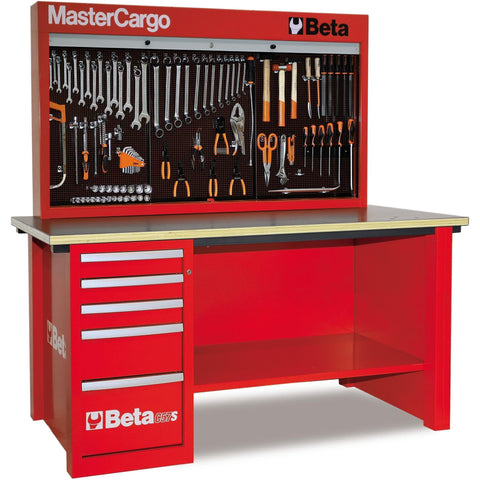 Beta Tools - MasterCargo™ - Workbench - C57S/A-Workbench-Beta Tools-Red-Torque Toolboxes