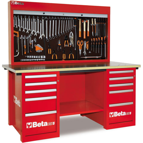 Beta Tools - MasterCargo™ - Workbench - C57S/B-Workbench-Beta Tools-Red-Torque Toolboxes