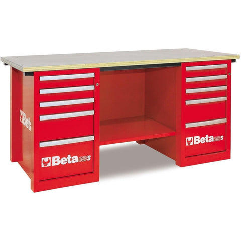 Beta Tools - MasterCargo™ - Workbench - C57S/C-Workbench-Beta Tools-Red-Torque Toolboxes