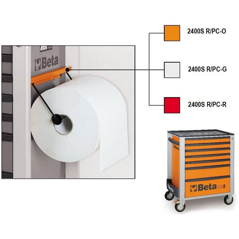 Beta Tools - Paper Roll Holder for C24S Roller Cabs - 2400SR/PC-Accessory-Beta Tools-Orange-Torque Toolboxes