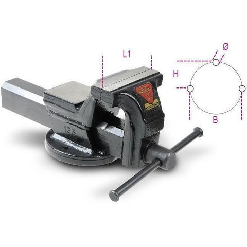 Beta Tools - Parallel Bench Vices, Multiple Sizes - 1599F-Accessory-Beta Tools-Torque Toolboxes