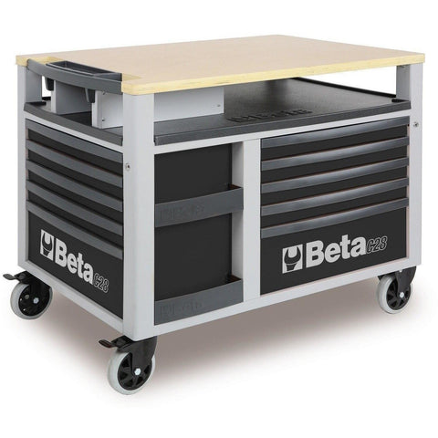 Beta Tools - Super Tank - 10-Drawer, Roller Cabinet - C28-Roller Cabinet-Beta Tools-Grey-Torque Toolboxes