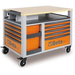 Beta Tools - Super Tank - 10-Drawer, Roller Cabinet - C28-Roller Cabinet-Beta Tools-Orange-Torque Toolboxes
