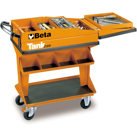 Beta Tools Tank Trolley With Shelf C25 + 118 PCs-Tool Trolley-Beta-Tools-Torque Toolboxes