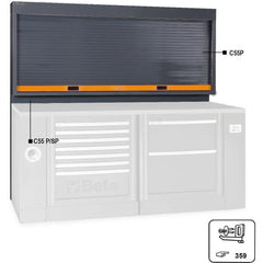 Beta Tools - Tool Panel with Shutter - C55PSP [RSC55]-Garage Storage-Beta Tools-Torque Toolboxes