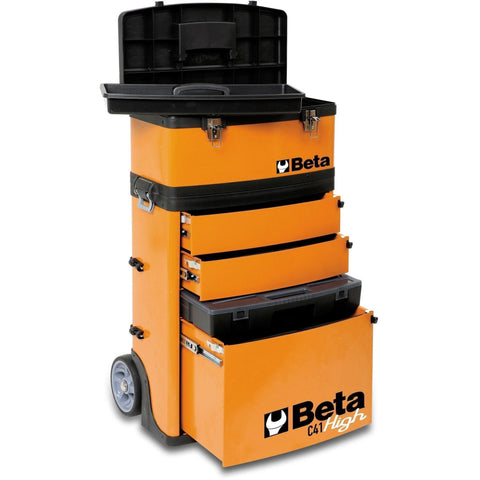 Beta Tools - Two-Module Tool Trolley - C41H - Multiple Colors-Tool Trolley-Beta Tools-Torque Toolboxes