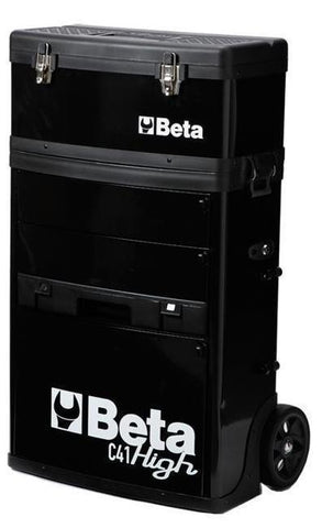 Beta Tools - Two-Module Tool Trolley - C41H - Multiple Colors-Tool Trolley-Beta Tools-Black-Torque Toolboxes