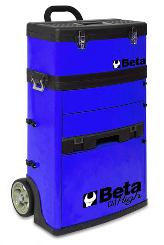 Beta Tools - Two-Module Tool Trolley - C41H - Multiple Colors-Tool Trolley-Beta Tools-Blue-Torque Toolboxes