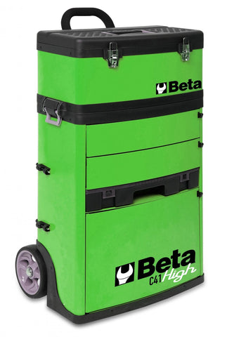 Beta Tools - Two-Module Tool Trolley - C41H - Multiple Colors-Tool Trolley-Beta Tools-Green-Torque Toolboxes