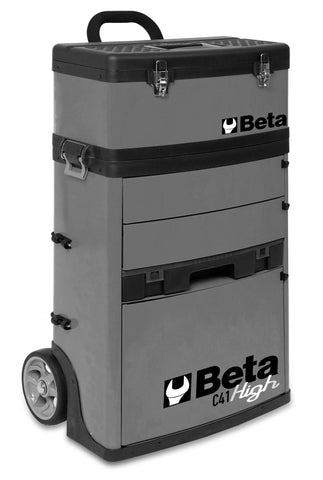 Beta Tools - Two-Module Tool Trolley - C41H - Multiple Colors-Tool Trolley-Beta Tools-Grey-Torque Toolboxes