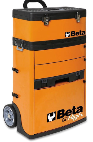 Beta Tools - Two-Module Tool Trolley - C41H - Multiple Colors-Tool Trolley-Beta Tools-Orange-Torque Toolboxes