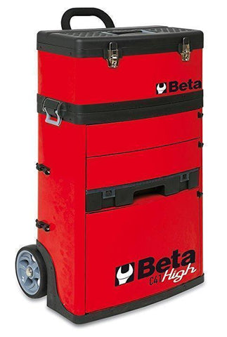 Beta Tools - Two-Module Tool Trolley - C41H - Multiple Colors-Tool Trolley-Beta Tools-Red-Torque Toolboxes