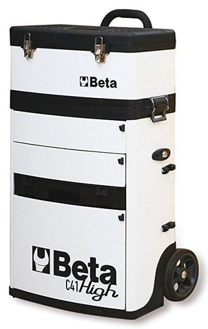 Beta Tools - Two-Module Tool Trolley - C41H - Multiple Colors-Tool Trolley-Beta Tools-White-Torque Toolboxes