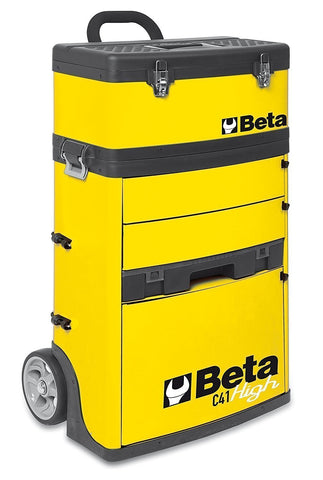 Beta Tools - Two-Module Tool Trolley - C41H - Multiple Colors-Tool Trolley-Beta Tools-Yellow-Torque Toolboxes