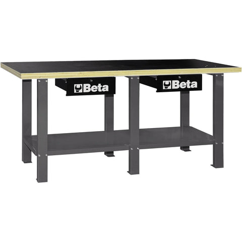 Beta Tools - Wood-Top, Workbench - C56W-Workbench-Beta Tools-Grey-Torque Toolboxes