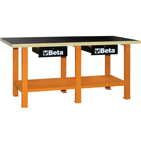 Beta Tools - Wood-Top, Workbench - C56W-Workbench-Beta Tools-Orange-Torque Toolboxes