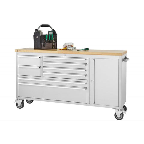 "Trinity 66"" Stainless Steel Rolling Workbench-Workbench-Trinity-Torque Toolboxes"