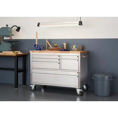 "Trinity 7-Drawer 48""W X 26""D Stainless Steel Workbench-Workbench-Trinity-Torque Toolboxes"