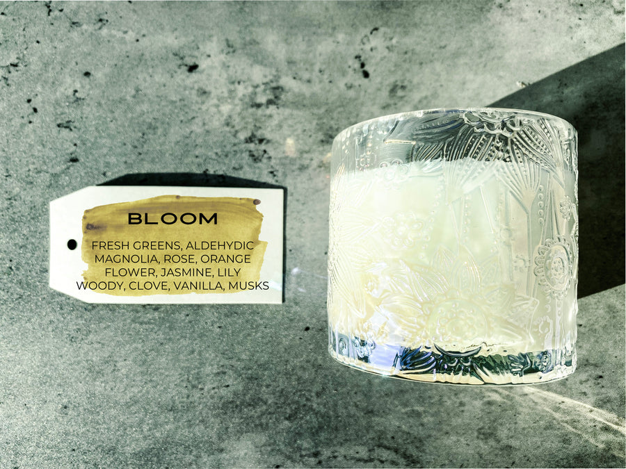 A BLOOM Candle