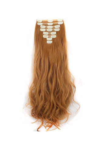 Clip in hair extensions red collection one sixty accessories ginger brown hair extensions red clip in remy human hair weave 24 wavy hair 180g pmusecretfo Gallery