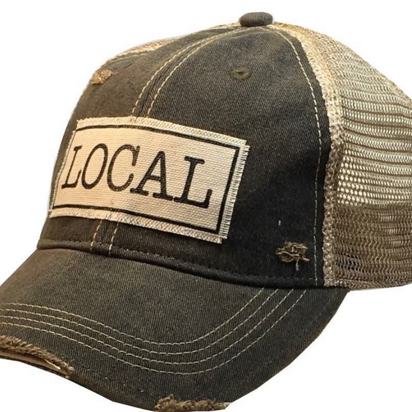 Distressed Trucker Cap - Distressed Black -  Local