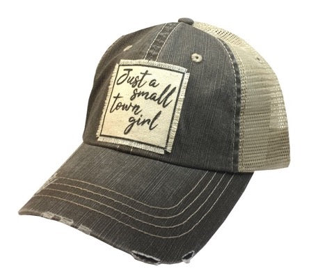 Distressed Trucker Cap - Distressed Black - Just A Small Town Girl