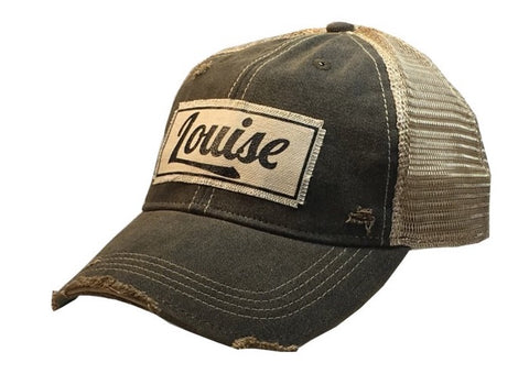 Distressed Trucker Cap - Distressed Black - Louise