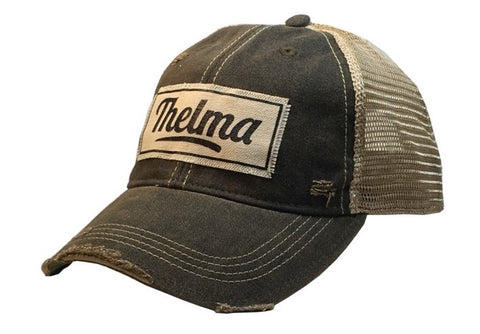 Distressed Trucker Cap - Distressed Black - Thelma