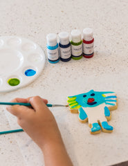 Decorating Borobi with Edible Art Paints