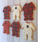 Baby Footie Pajamas Cookie Cutter - Tin