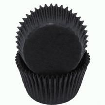 Black Baking Cups - 50 Pack