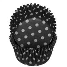 Black Polka Dots Baking Cups - 50 Pack