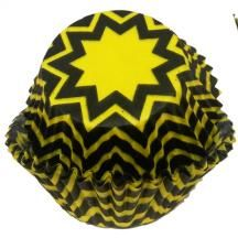 Yellow and Black Chevron Baking Cups - 50 Pack