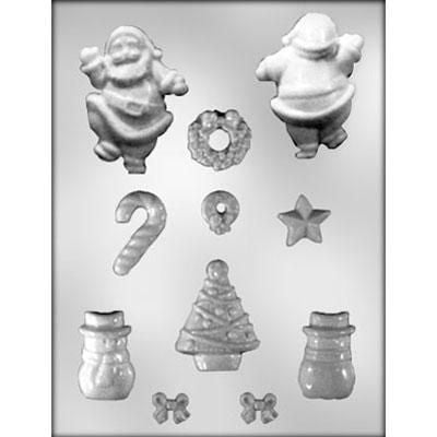 Gingerbread House Accessories with Santa Mould