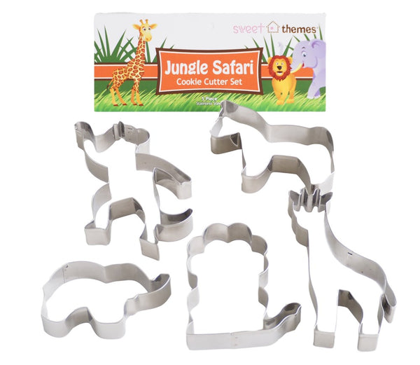 Jungle Safari 5pce Stainless Steel Cookie Cutter Pack