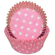 Pink Polka Dot Baking Cups - 50 Pack