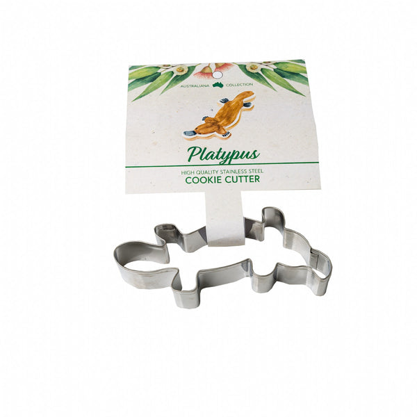 Platypus Stainless Steel Cookie Cutter with Recipe Card