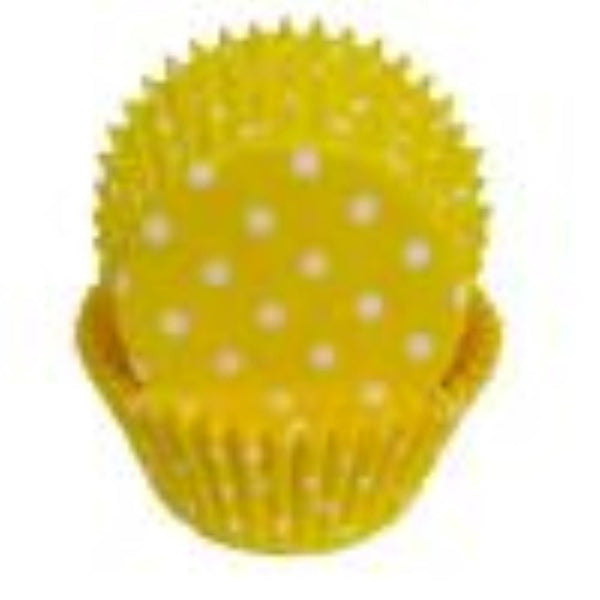 Yellow Polka Dot Baking Cups  - 50 Pack