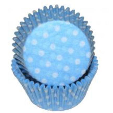 Blue Polka Dot Baking Cups - 50 Pack