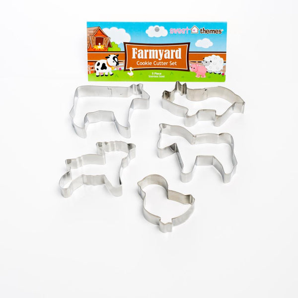 Farmyard 5pce Stainless Steel Cookie Cutter Pack