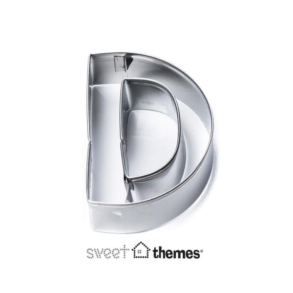Letter D Stainless Steel Cookie Cutter