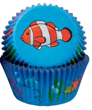 Tropical Fish  Cupcake Cases  - 50 Pack