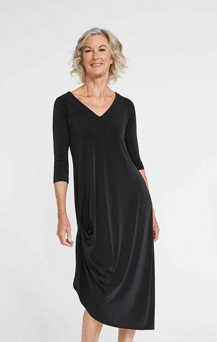 Sympli Drama Dress #2864-2 at www.threewildwomen.ca | Free shipping over $200 North America